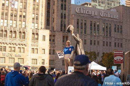 Cubs Fans Victory Rally