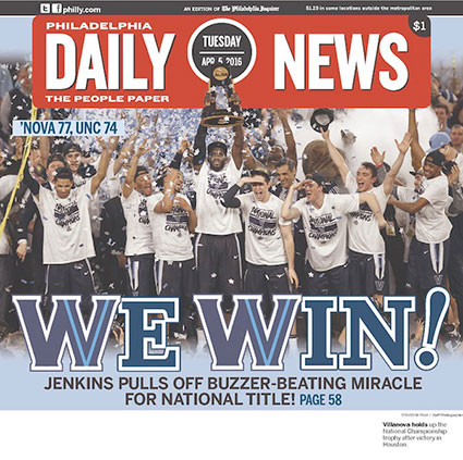Philadelphia Daily News Villanova Cover