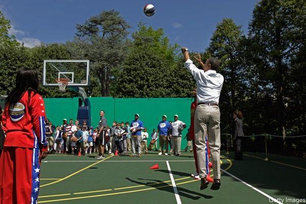 Barack Obama Jump Shot