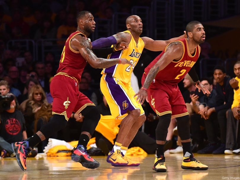LeBron James, Kobe Bryant, Kyrie Irving