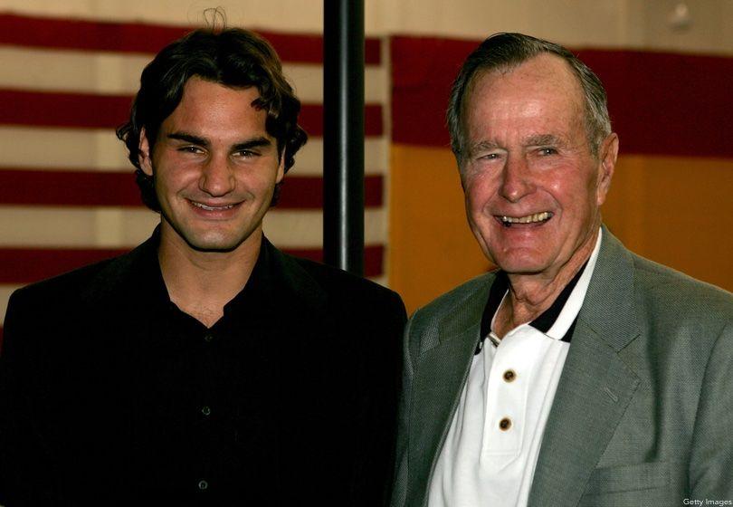 Roger Federer, George H.W. Bush