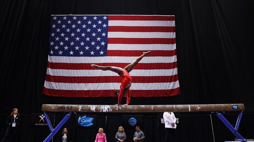 Simone Biles, U.S. Flag