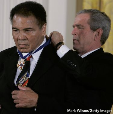 Muhammad Ali, George Bush