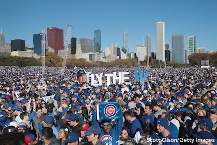Cubs Fans Victory Parade