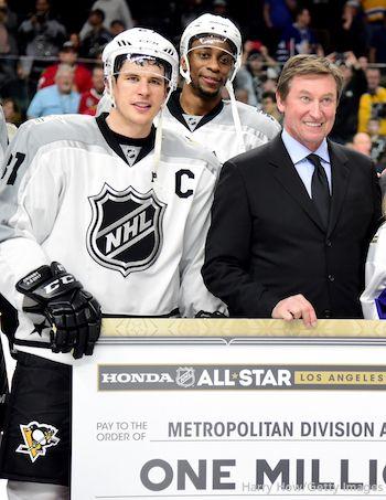 Sidney Crosby, Wayne Simmonds, Wayne Gretzky