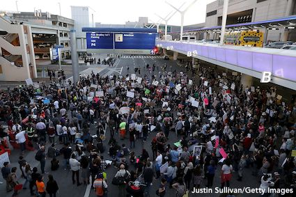 LAX Protest Against Travel Ban