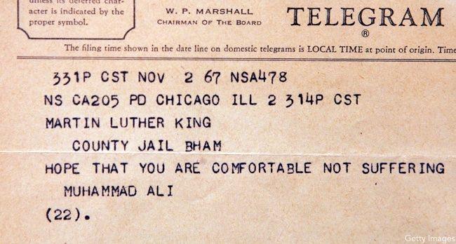 Martin Luther King Jr., Muhammad Ali
