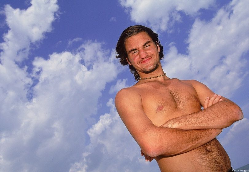 Roger Federer Topless