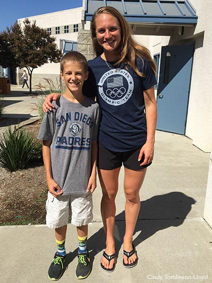 Carli Lloyd Visits Her Old School