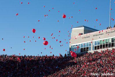 Nebraska Football Balloon Release