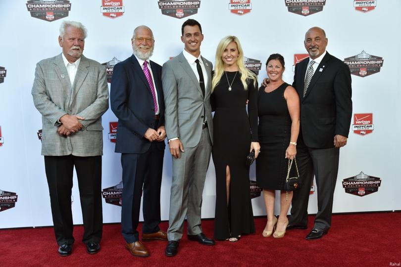 David Letterman, Graham Rahal, Courtney Force, Bobby Rahal