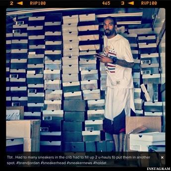 Rip Hamilton Shows Off Huge Sneaker