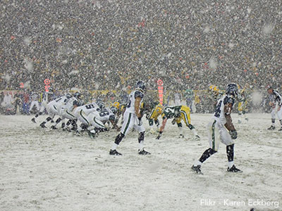 Seahawks Packers Snow