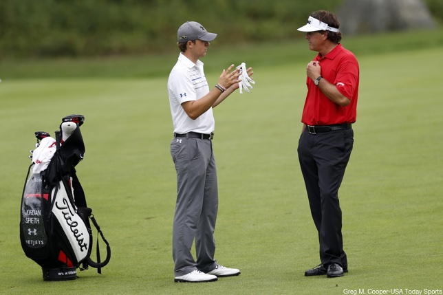 Spieth And Mickelson Red And White