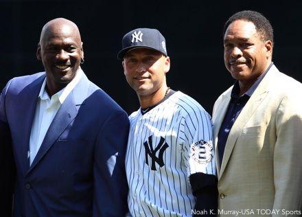 Michael Jordan, Derek Jeter, Dave Winfield