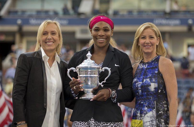 Martina Navratilova, Serena Williams, Chris Evert