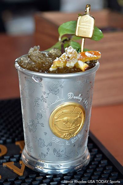 Mint Julep In Silver Cup