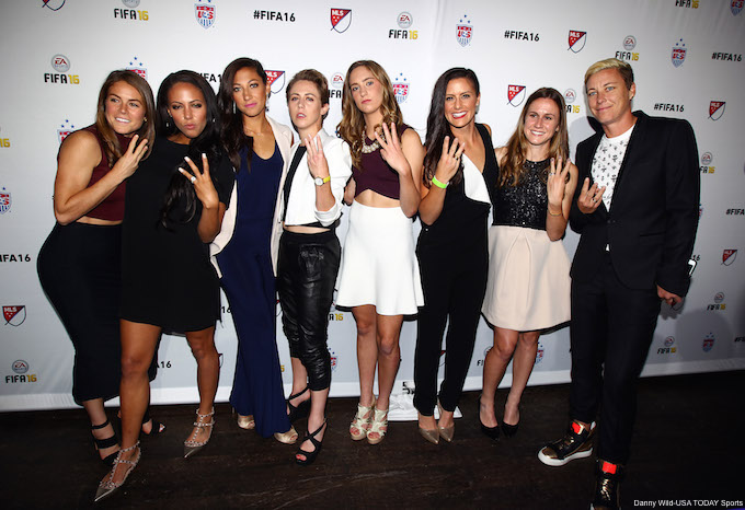 USWNT FIFA 16 Launch Party