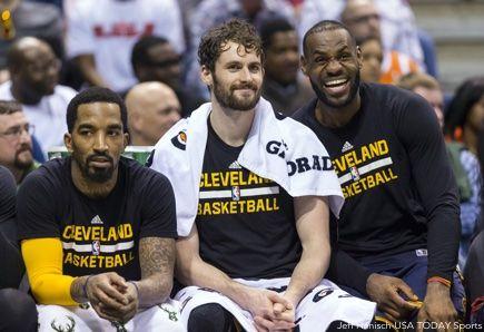 Kevin Love, LeBron James, JR Smith
