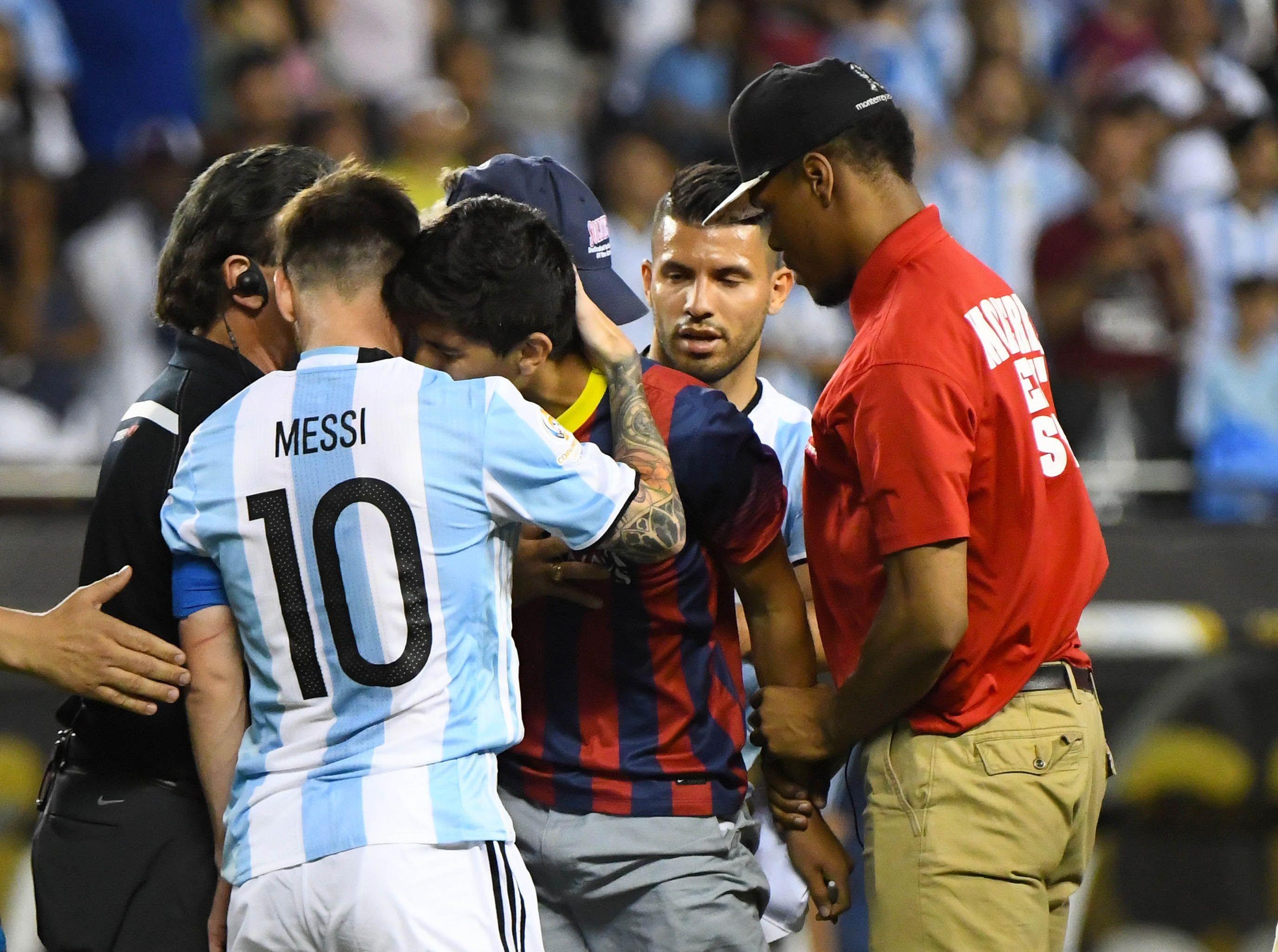 Lionel Messi Fan Hug