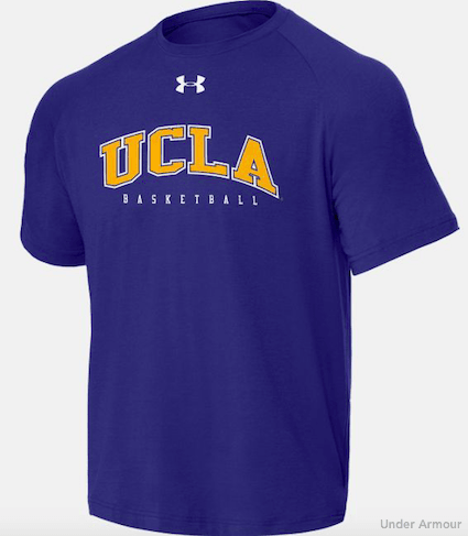 Navy Blue UCLA Basketball T-Shirt from Under Armour