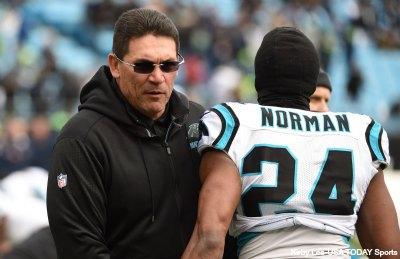 Ron Rivera and Josh Norman