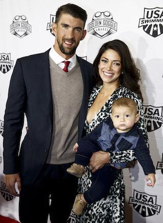 Michael Phelps, Nicole Johnson, Boomer Phelps