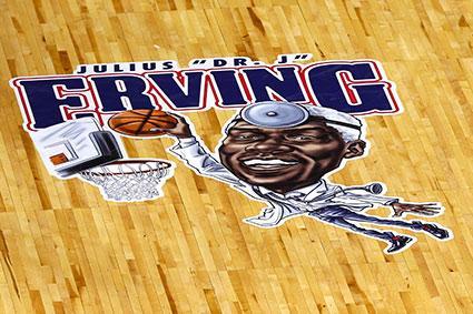 Julius Erving Floor Logo