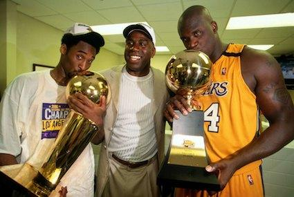 Kobe Bryant, Magic Johnson, Shaquille O'Neal