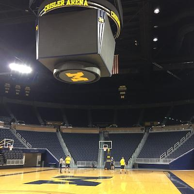 Michigan Basketball Practice