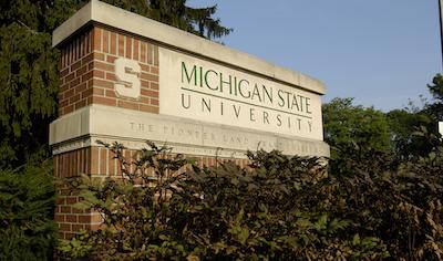 Michigan State University Campus Sign