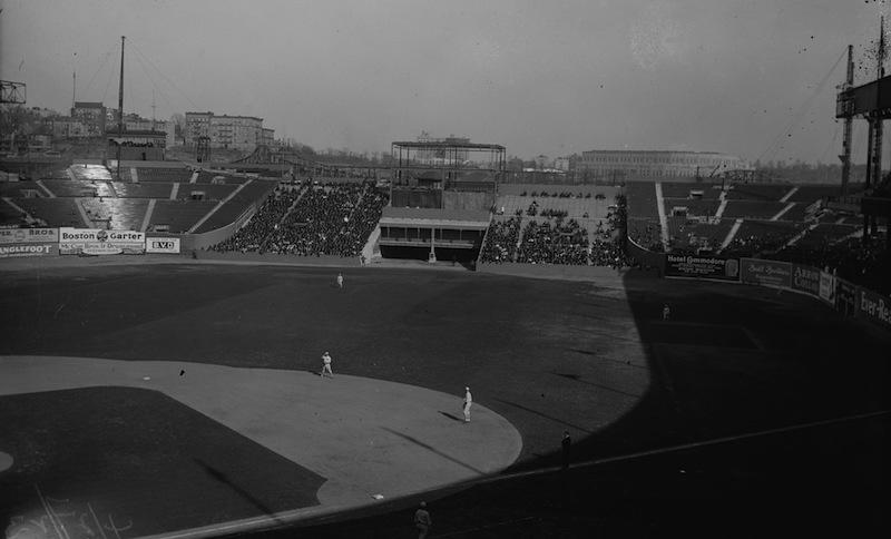 Polo Grounds With Yankee Stadium In The Distance
