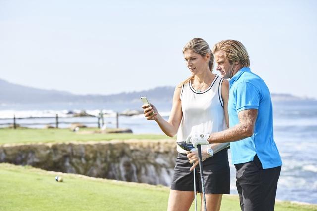 Laird Hamilton, Gabby Reece Play Golf