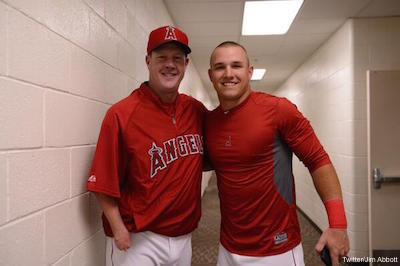 Jim Abbott And Mike Trout
