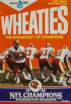 Redskins Wheaties Box