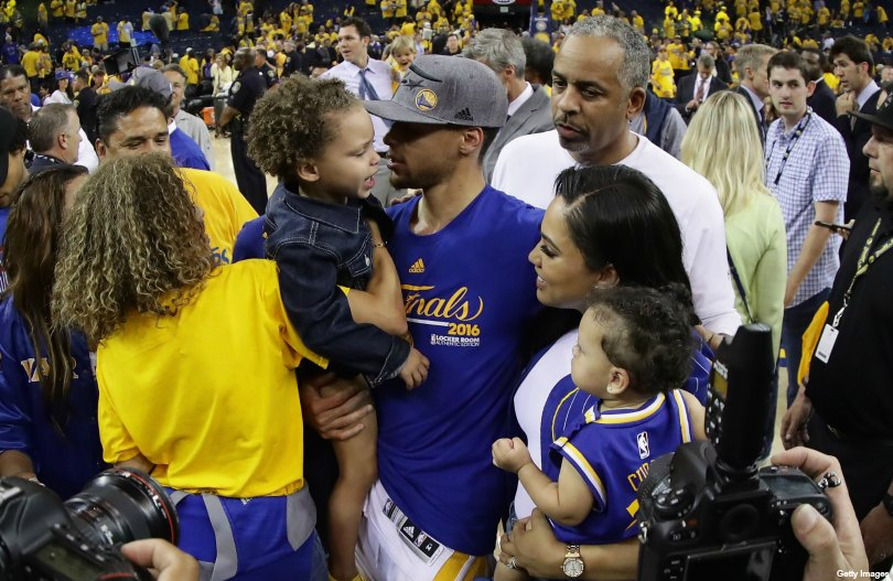 Curry Family After Game 7