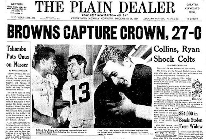 Browns Win 1964 NFL Title
