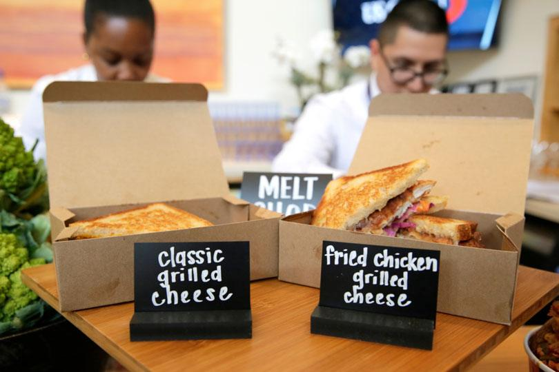 Classic Grilled Cheese, Fried Chicken Melt