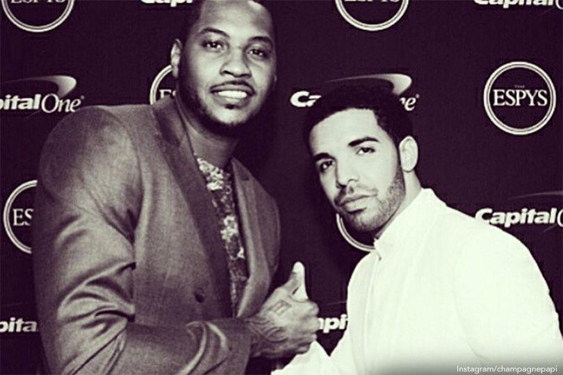 Carmelo Anthony And Drake