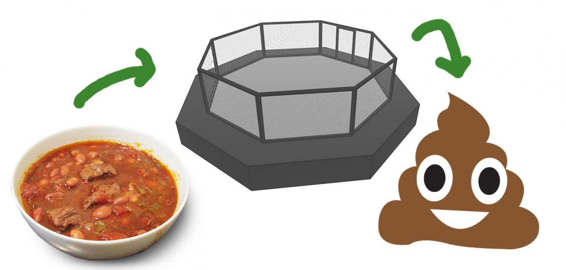 Chili Cage Fighting Poop