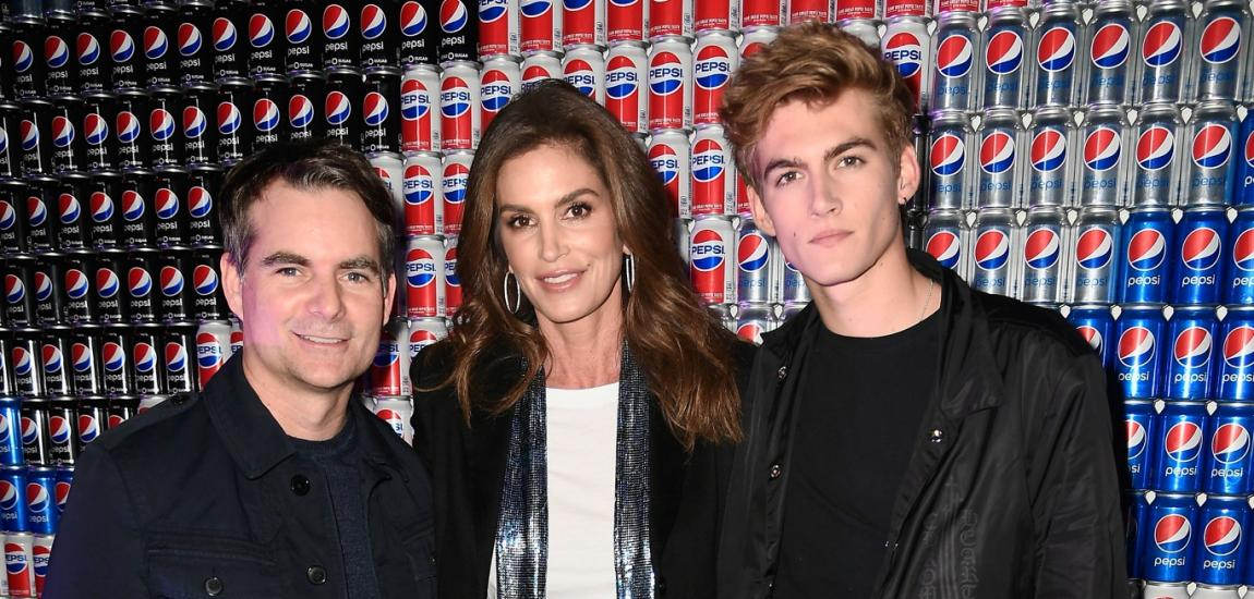 Jeff Gordon, Cindy Crawford, Presley Gerber