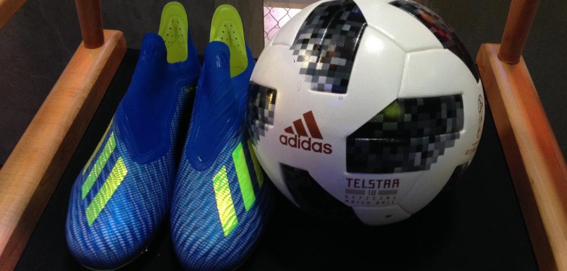 Adidas Cleats And World Cup Soccer Ball