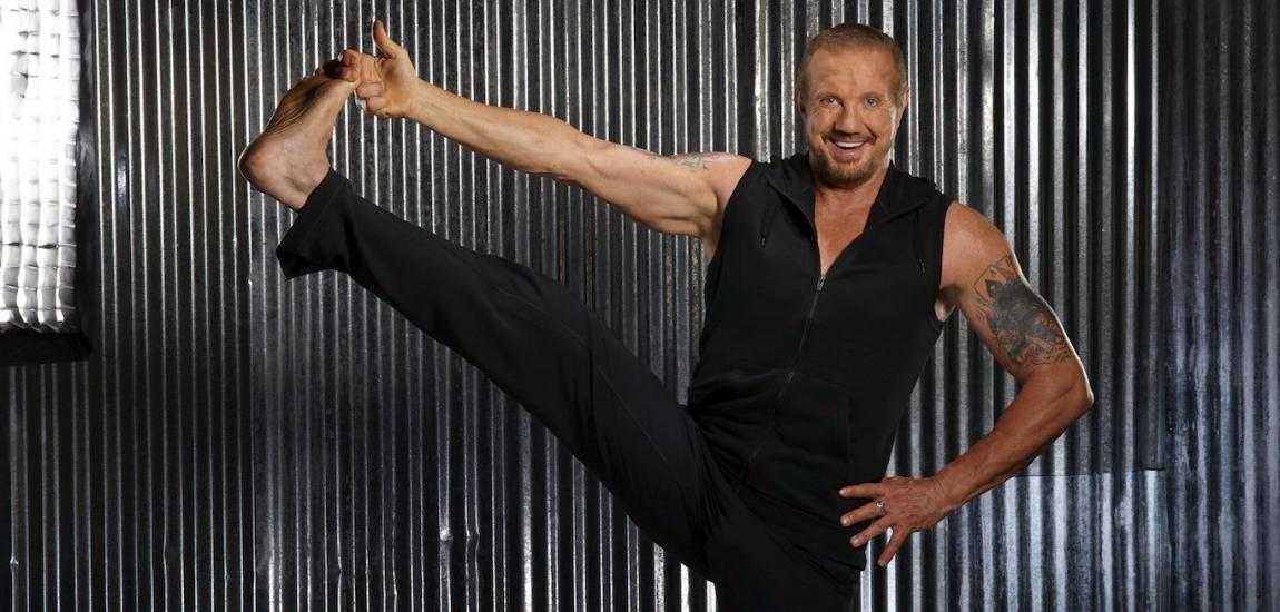 Diamond Dallas Page Does Yoga Pose