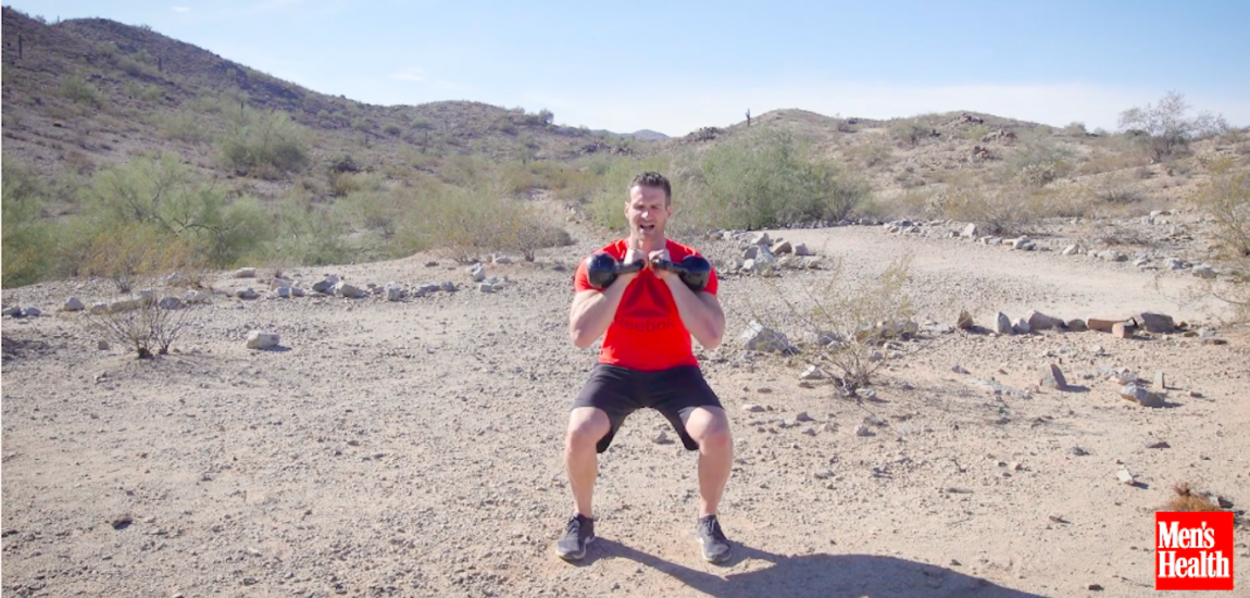 Double Kettlebell Squat