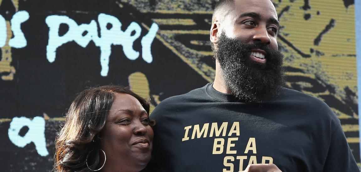 James Harden With Mom
