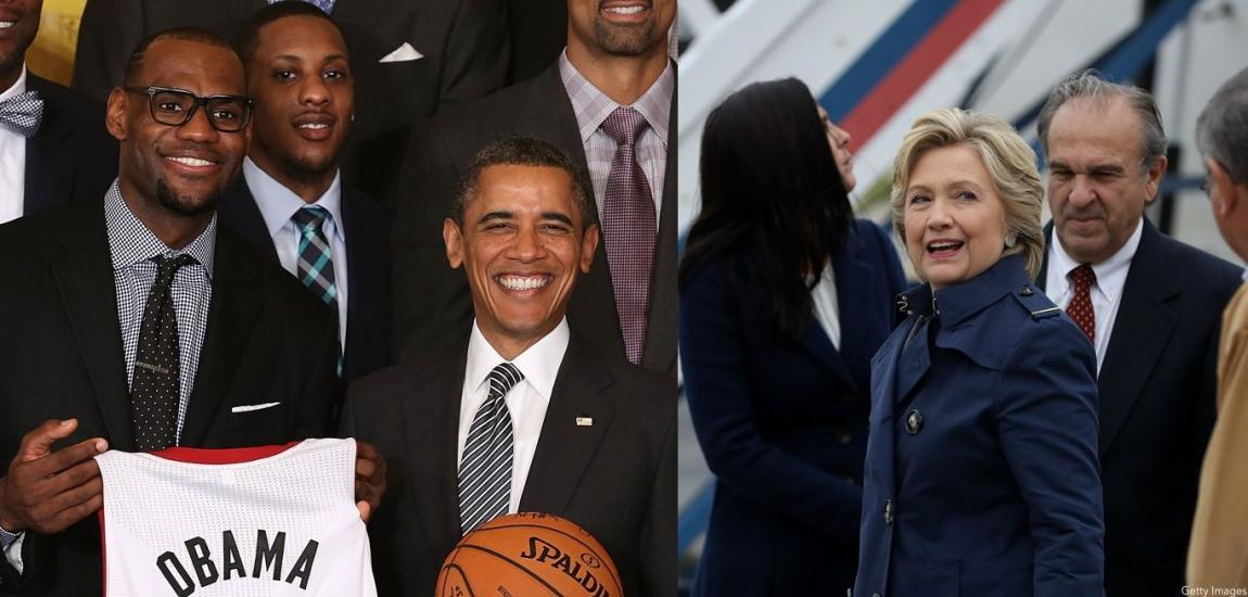 Lebron James, Barack Obama, Hillary Clinton