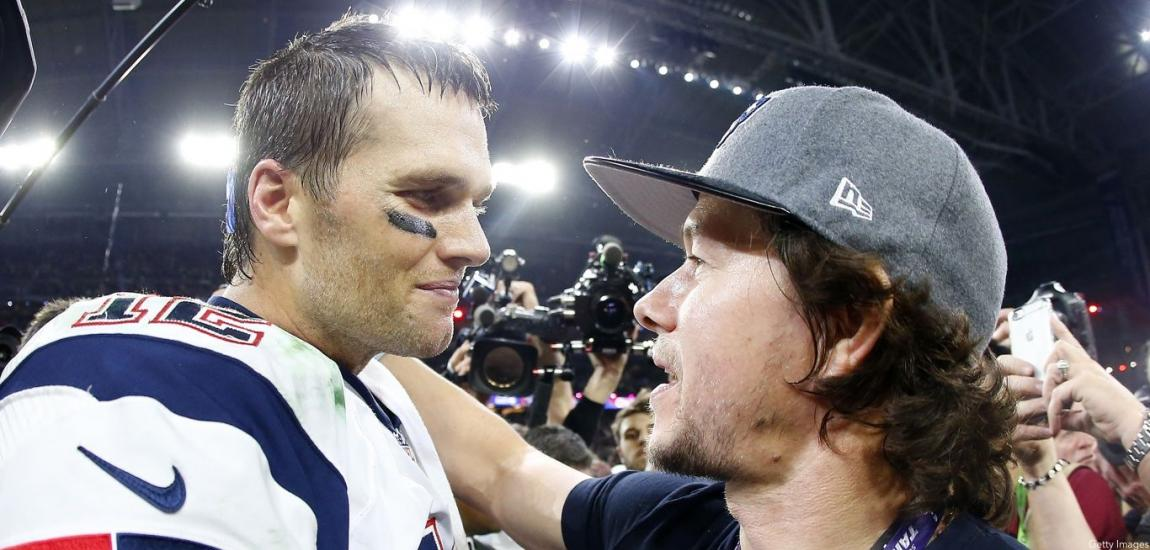 Tom Brady, Mark Wahlberg