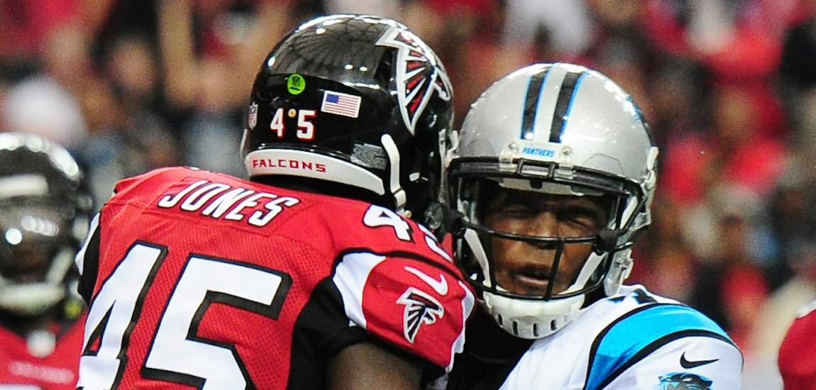 Deion Jones, Cam Newton