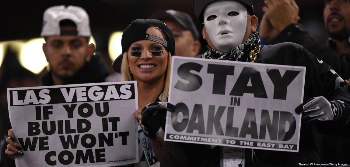 Raiders Fans Protest Move To Vegas