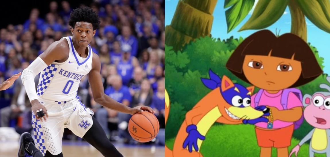 De'Aaron Fox, Swiper, Dora The Explorer
